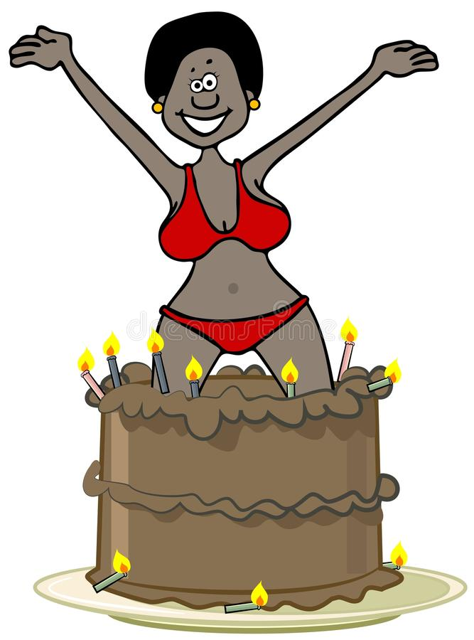 Admirable Jumping Out Cake Stock Illustrations 32 Jumping Out Cake Stock Funny Birthday Cards Online Aeocydamsfinfo
