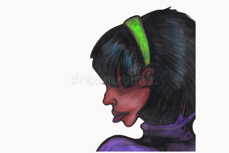 Black Woman Profile Stock Photo