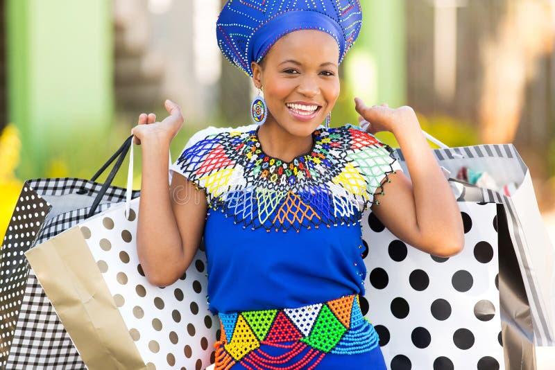 Black woman shopping stock photography