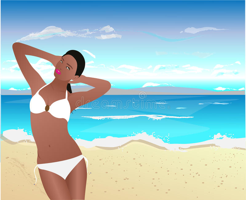 Download Black Woman On Tropical Beach Stock Images - Image: 22166894