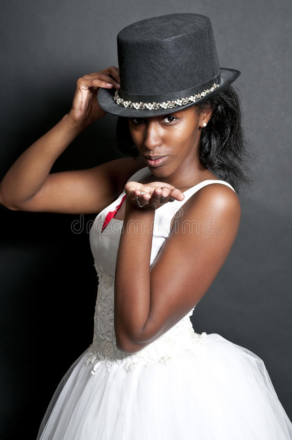 Black Woman In Wedding Dress Stock Images