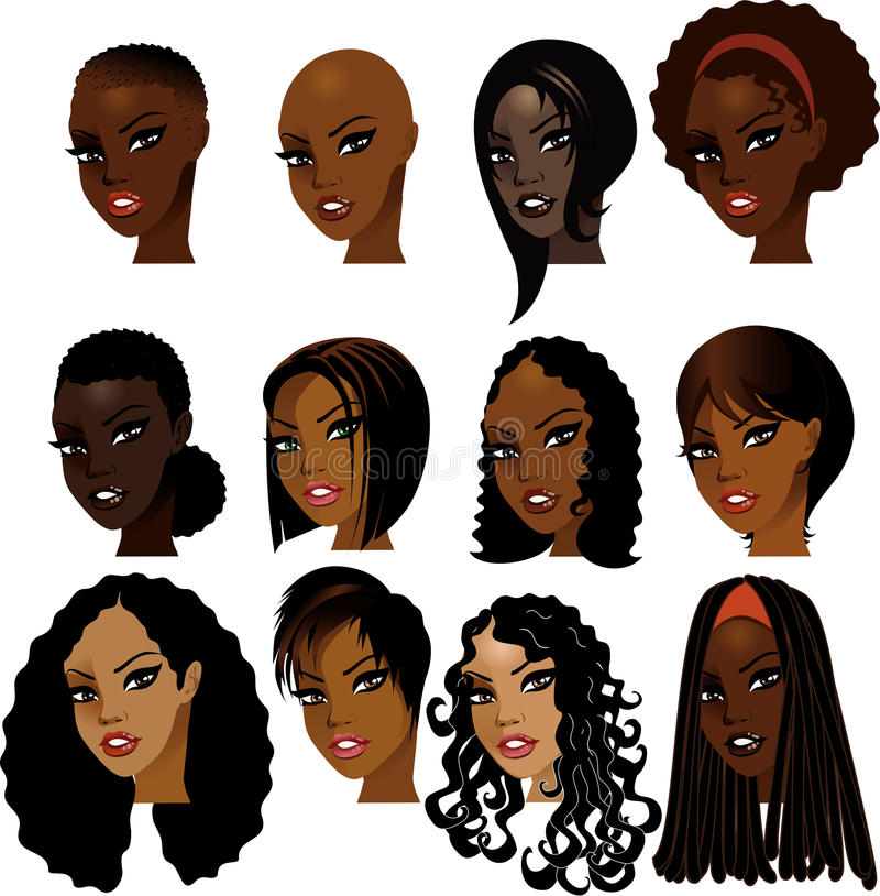 Free Black Women Faces Stock Photo - 13081230