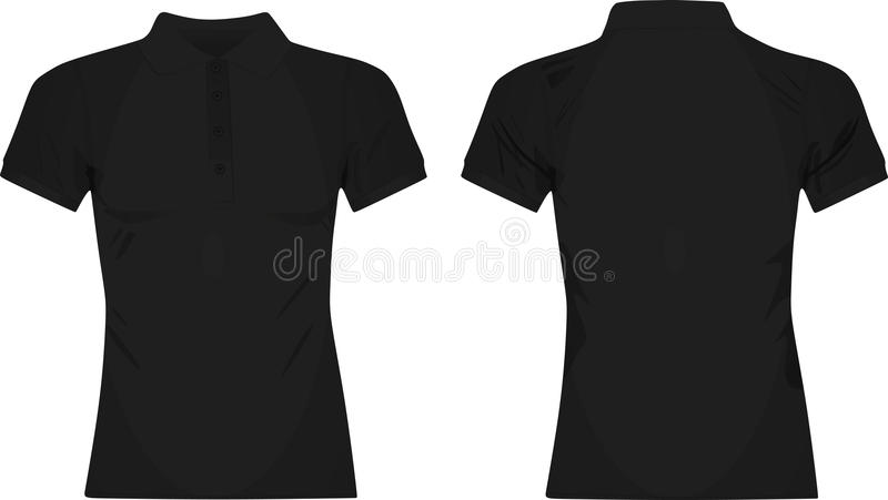 black women polo t shirt stock vector illustration of female 98062050 rh dreamstime com black t shirt vector download black t shirt vector illustrator