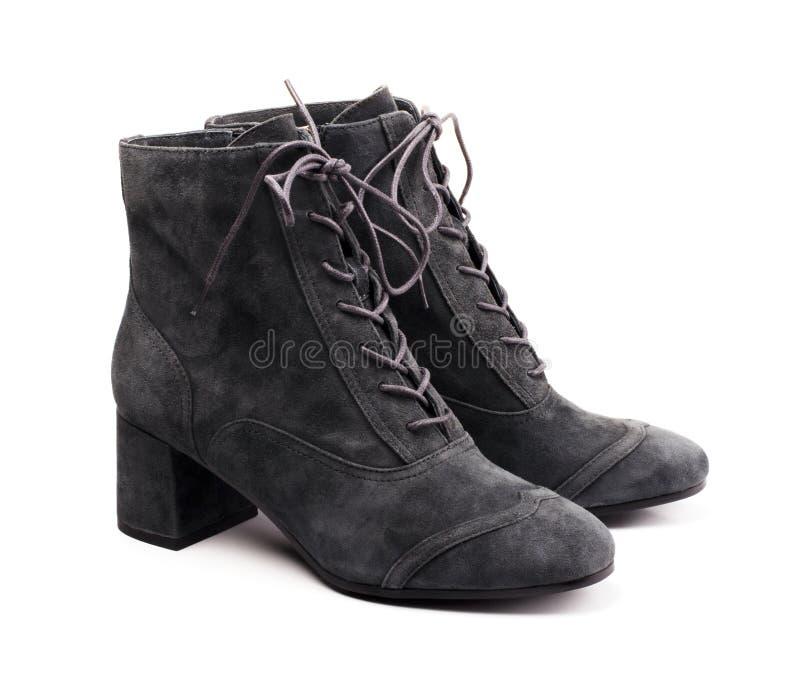 Black women`s boots royalty free stock photo