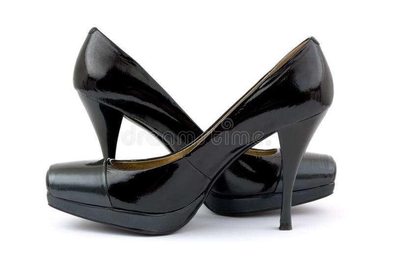 Black women shoes royalty free stock photos