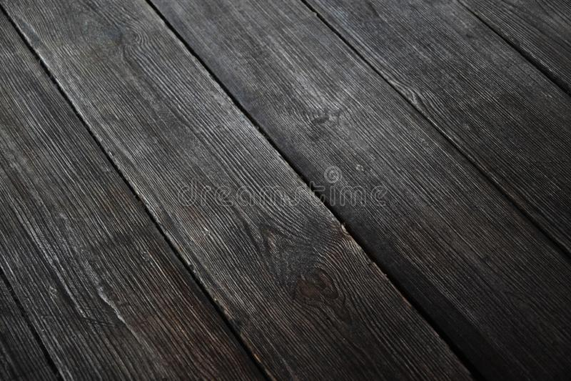 Black wood floor texture, hardwood. Floor texture stock photo
