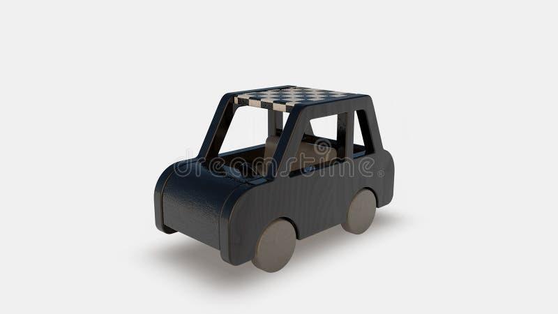 Black wood toy stock illustration