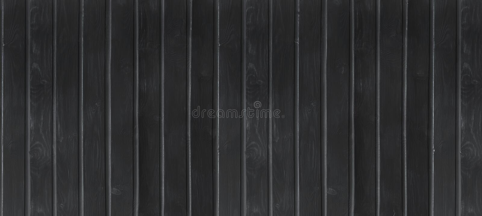 Black wood vintage or grungy background. Wooden old texture as a retro pattern layout. stock image