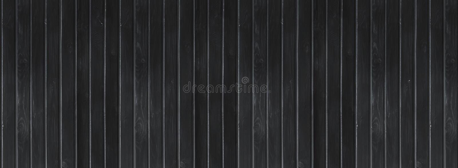 Black wood vintage or grungy background. Wooden old texture as a retro pattern layout. royalty free stock photos
