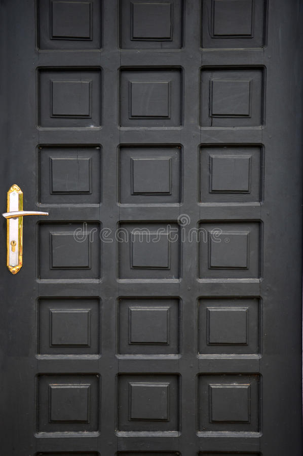 Download Black Wooden Doors Stock Photo - Image: 32134980