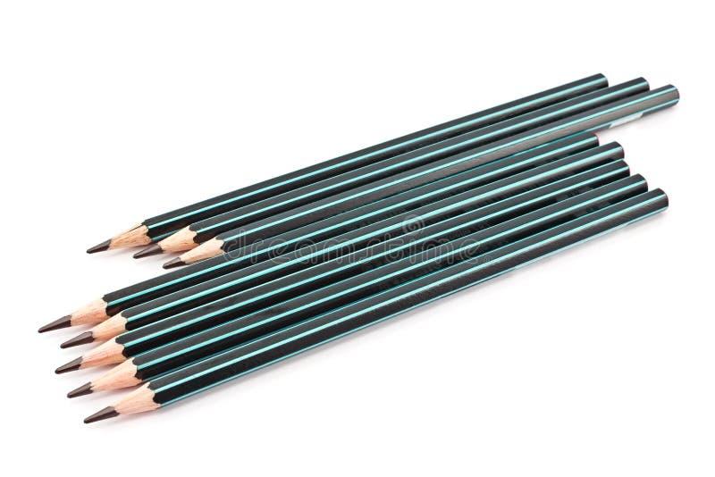 Black wooden pencils stock image