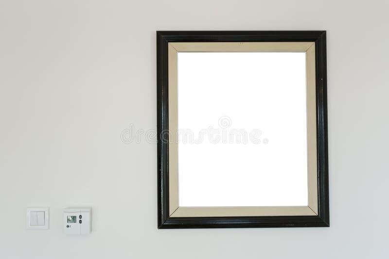 Black wooden photo frames mockup royalty free stock photo