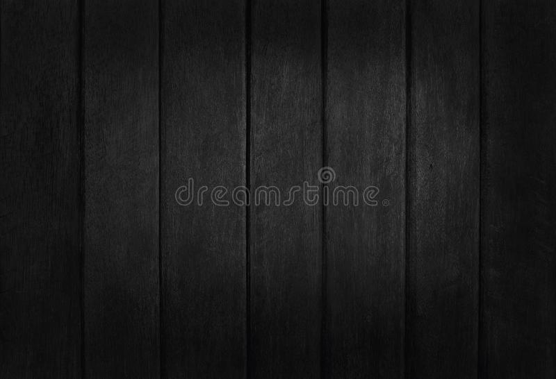 Black wooden wall background, texture of dark bark wood with old natural pattern for design art work, top view of grain timber.  stock images