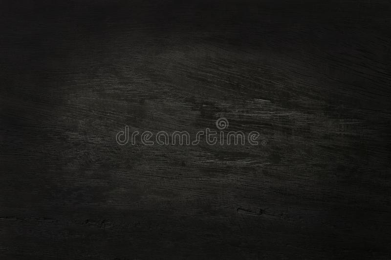 Black wooden wall background, texture of dark bark wood with old natural pattern for design art work, top view of grain timber.  stock photography