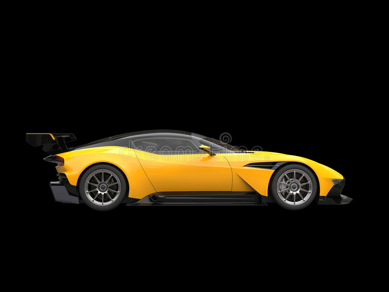 Race Car Side View Black And Yellow Aweso...