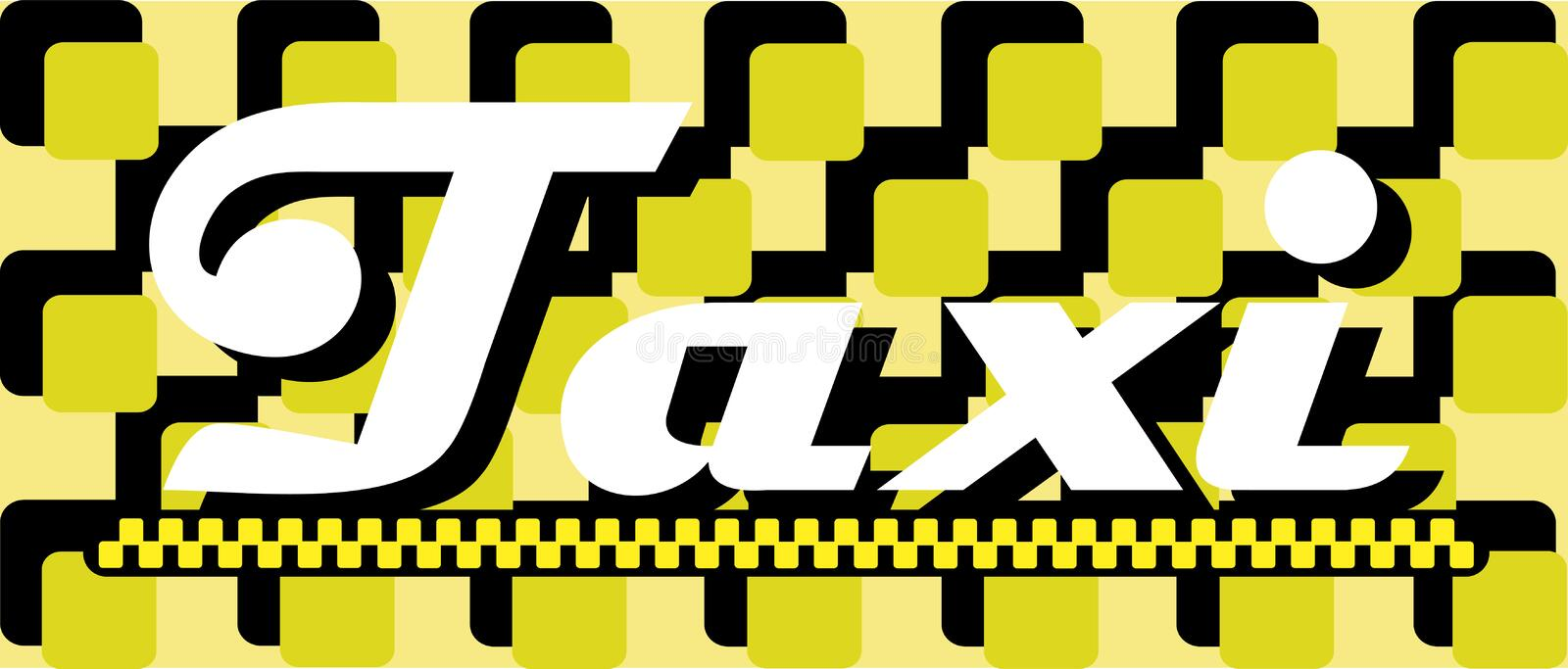 Black and yellow card with taxi. Black and yellow business card with taxi stock illustration