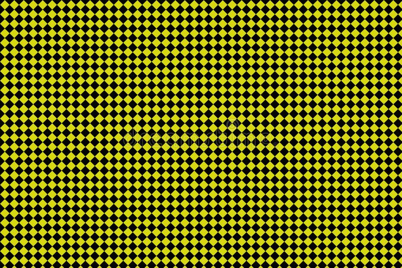 Black and yellow checkerboard background -Vector ilustration - EPS 10 vector illustration