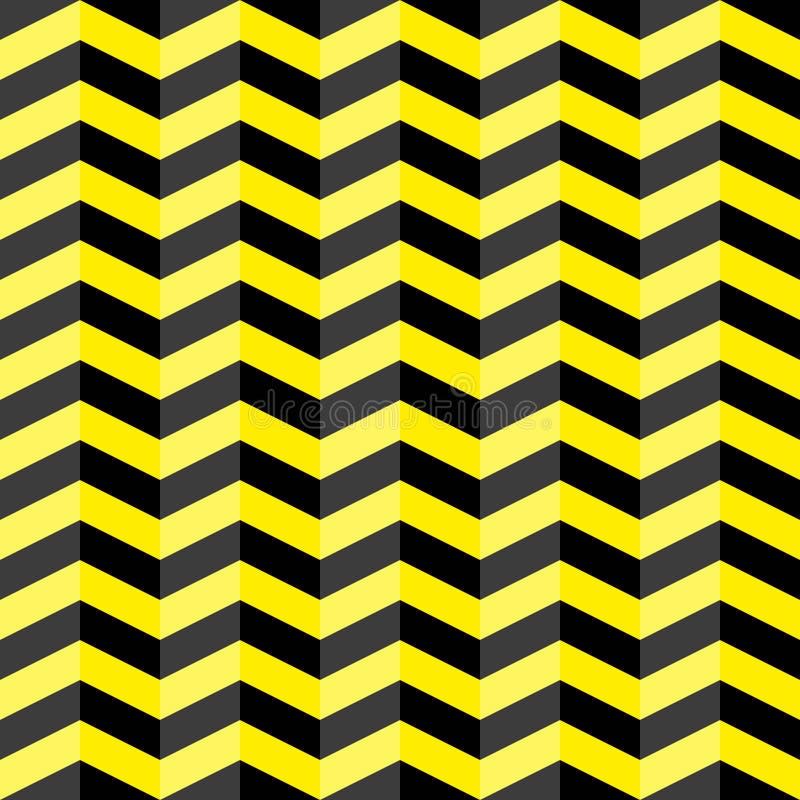 Black and yellow chevron seamless pattern royalty free illustration