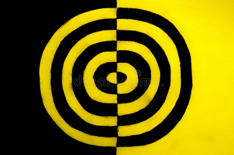 Black and yellow concept. A black and yellow conceptual background royalty free stock photos