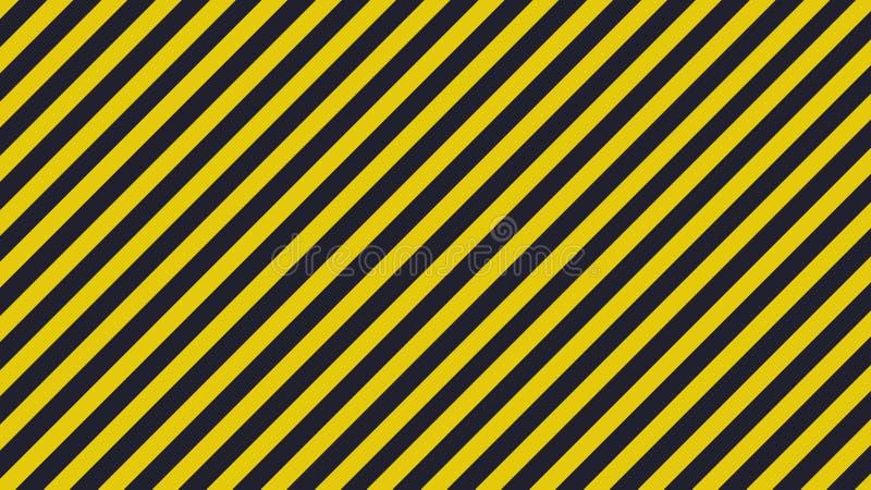 Black and yellow diagonal lines - warning lines - 16:9 ration. Black and yellow diagonal lines - warning lines - useful like grunge background ratio 16:9 stock illustration