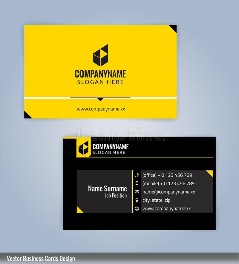 Black and yellow modern creative and clean business card design download black and yellow modern creative and clean business card design template stock vector colourmoves