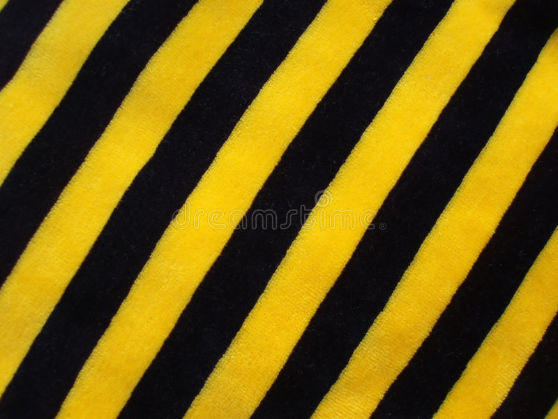 Black and yellow striped fabric royalty free stock image