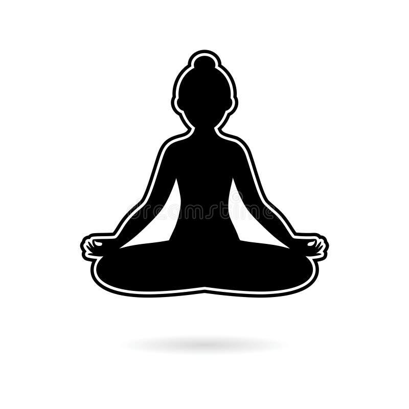 black yoga meditation zen pose logo silhouette logo stock vector illustration of background line 130593449 black yoga meditation zen pose logo