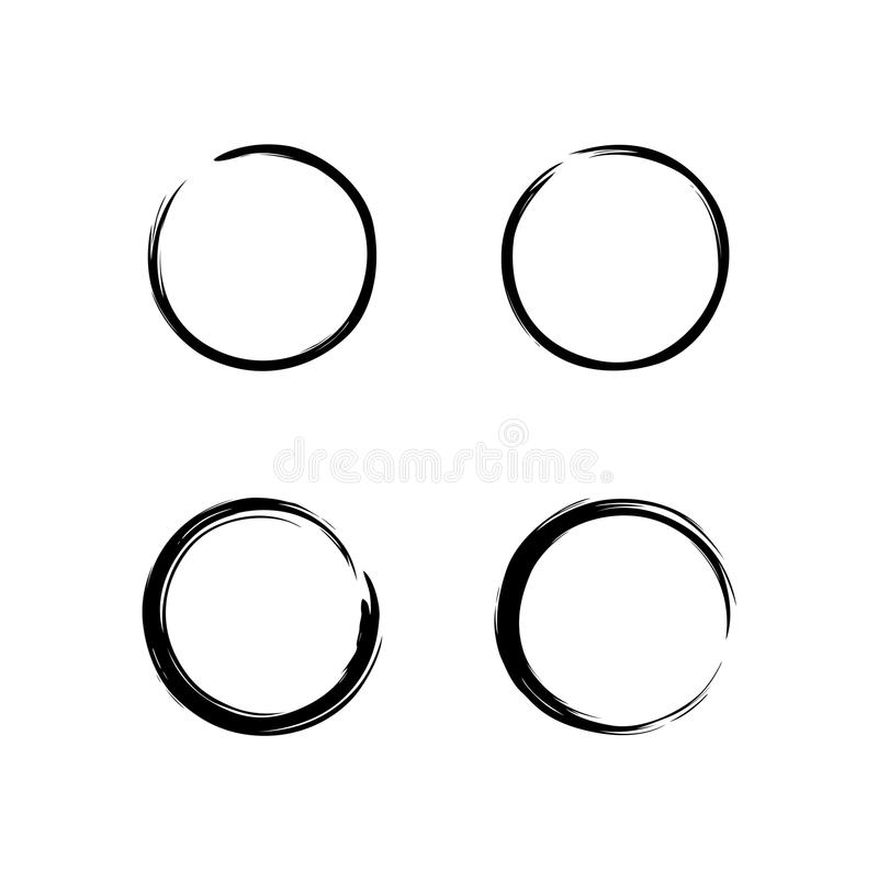 Black Zen Circle Brush Set Vector Design Illustration vector illustration