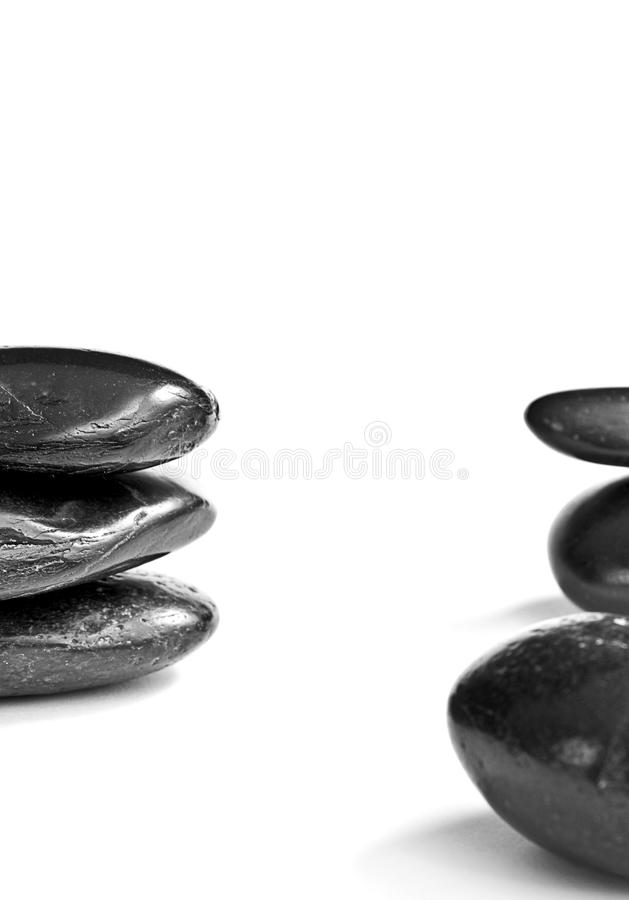 Download Black zen or spa stones stock photo. Image of smoothed - 15202510