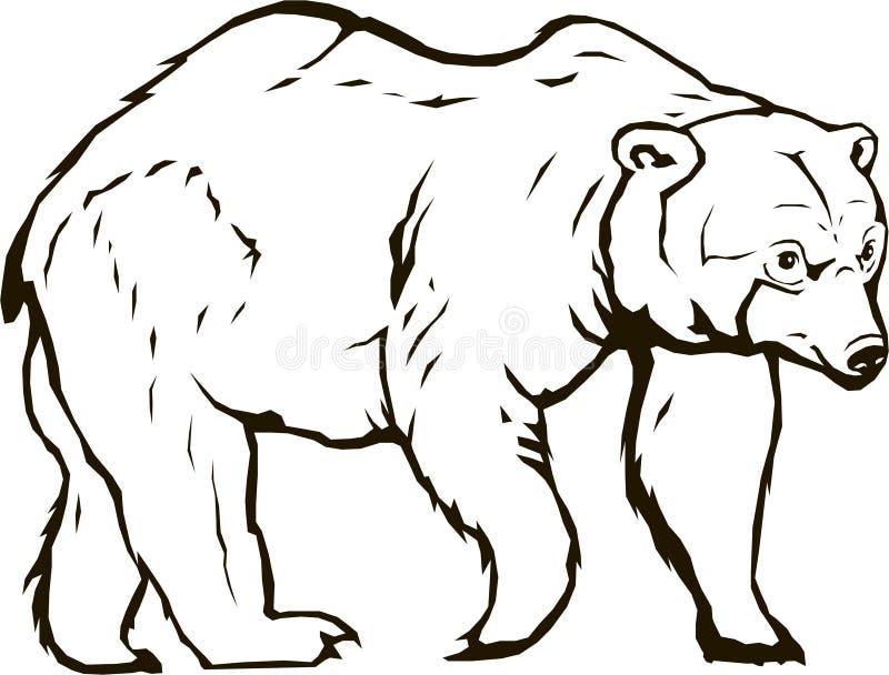 Blackbear björnvektor royaltyfri illustrationer