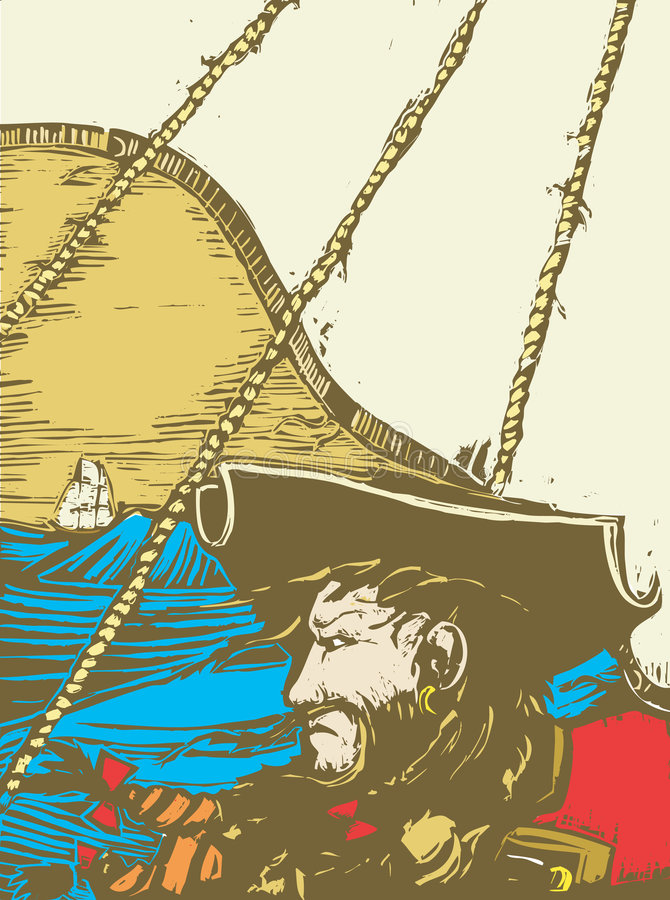 Blackbeard de Piraat vector illustratie