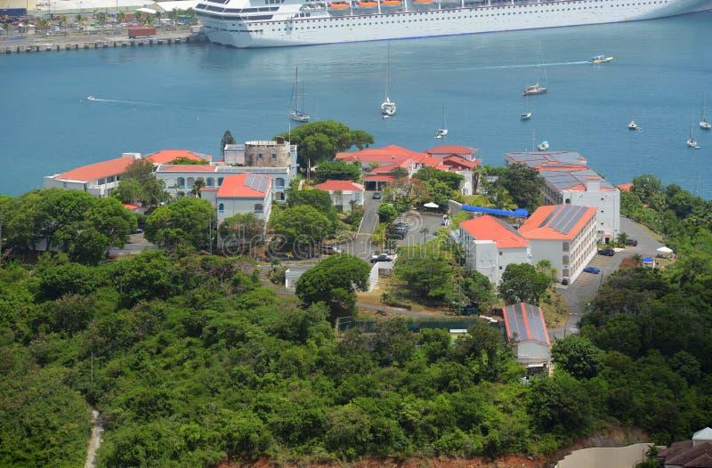 Blackbeard's Castle, US Virgin Islands. Blackbeard's Castle is on top of Government Hill at Town of Charlotte Amalie, Saint Thomas Island, US Virgin Islands, USA stock photography