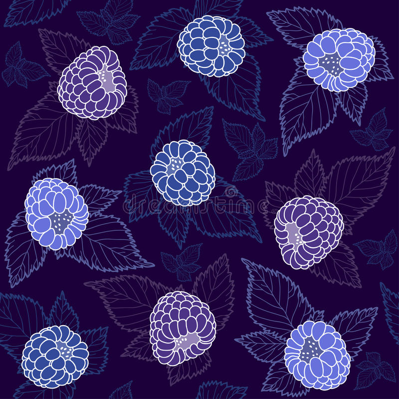 Blackberry background. Seamless pattern with blackberry. Seamless pattern can be used for textiles, wrapping paper, wallpaper, pattern fills, web page background stock illustration