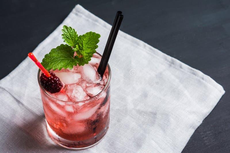 Blackberry-Cocktail royalty-vrije stock fotografie