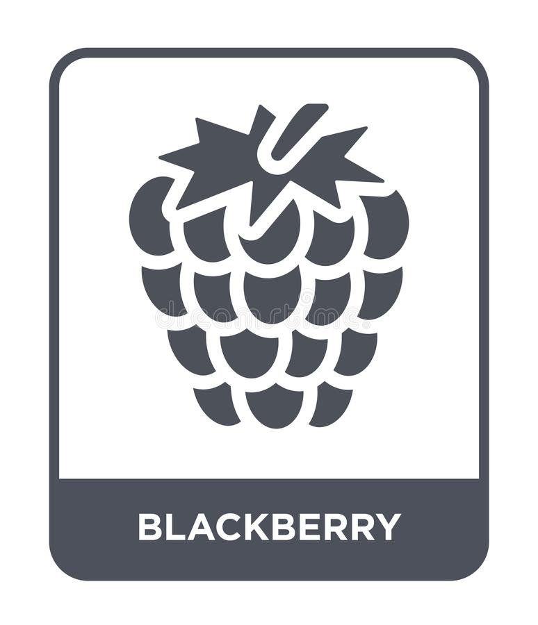 Blackberry icon in trendy design style. blackberry icon isolated on white background. blackberry vector icon simple and modern. Flat symbol for web site, mobile vector illustration