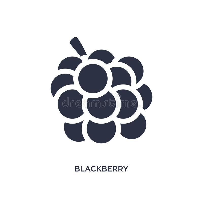 Blackberry icon on white background. Simple element illustration from fruits and vegetables concept. Blackberry icon. Simple element illustration from fruits and vector illustration