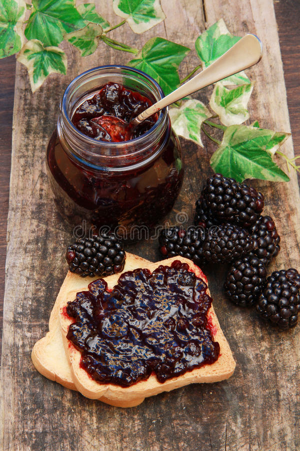 Download Blackberry jam stock image. Image of delicious, bread - 14858755