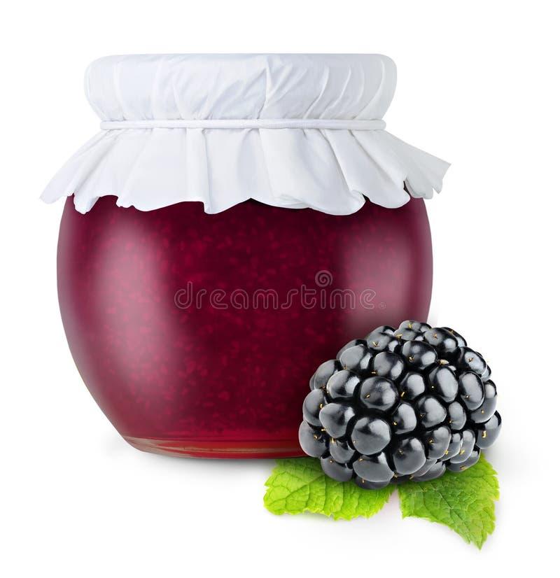 Blackberry-jam royalty-vrije stock foto's