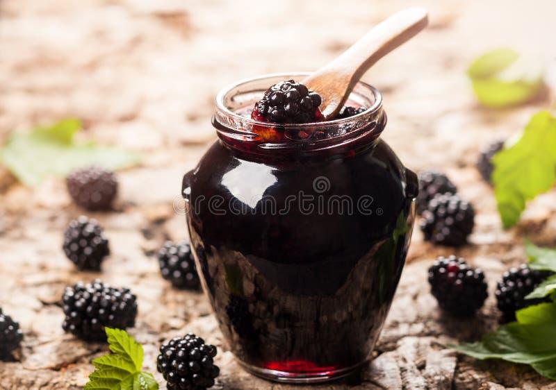 Blackberry-jam stock foto's