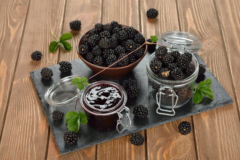 Blackberry-jam stock afbeeldingen