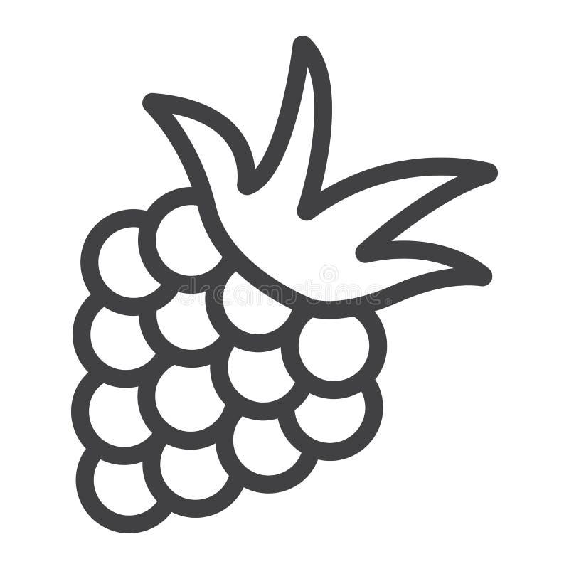 Blackberry-lijnpictogram, fruit en dieet vector illustratie