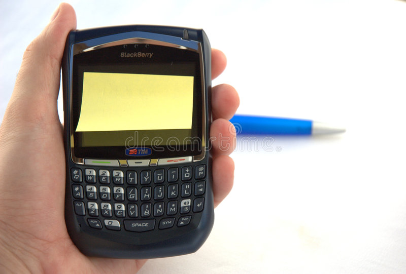 Download Blackberry with post-it stock image. Image of business - 2973617