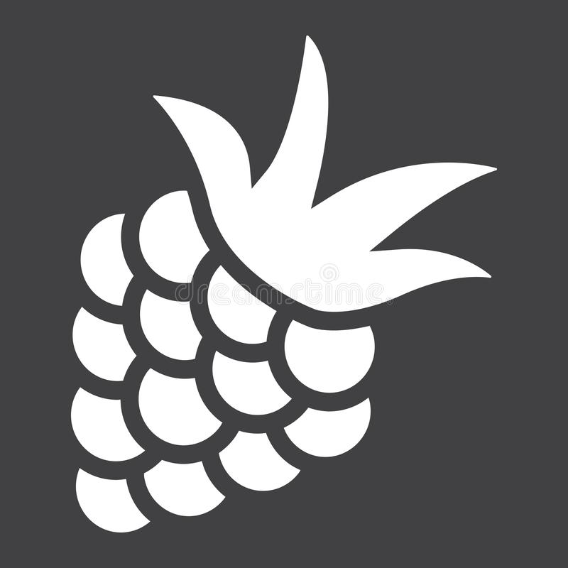Blackberry solid icon, fruit and diet royalty free illustration