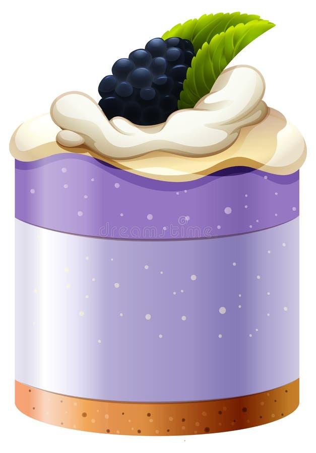 Blackberry tort z skorupy bazą ilustracja wektor
