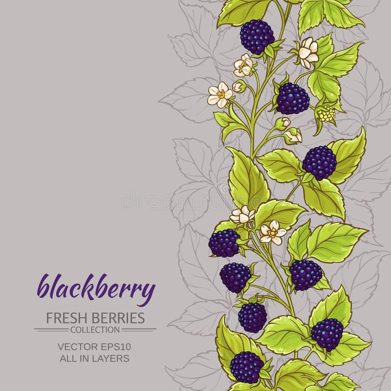 Blackberry vektorbakgrund royaltyfri illustrationer