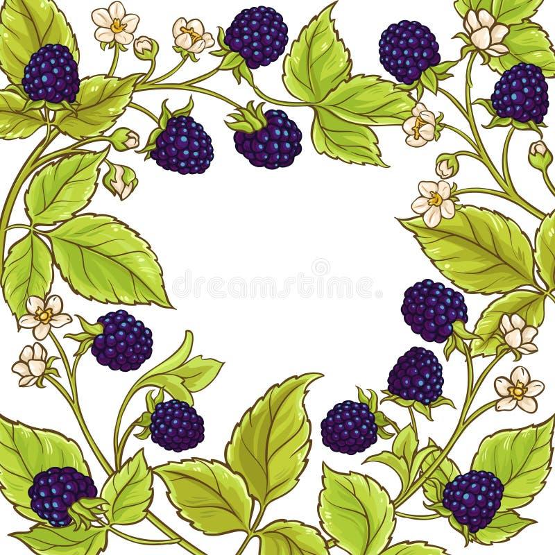 Blackberry vektorram vektor illustrationer