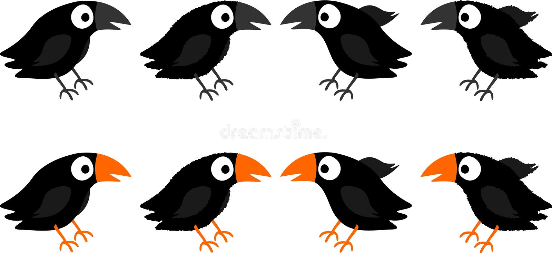 Blackbirds royalty free illustration