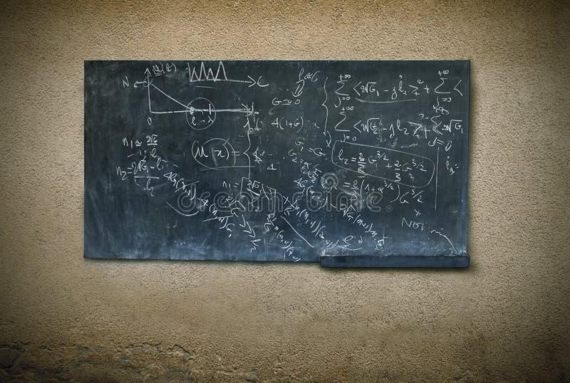 Blackboard. Illustration of a written blackboard stock photo