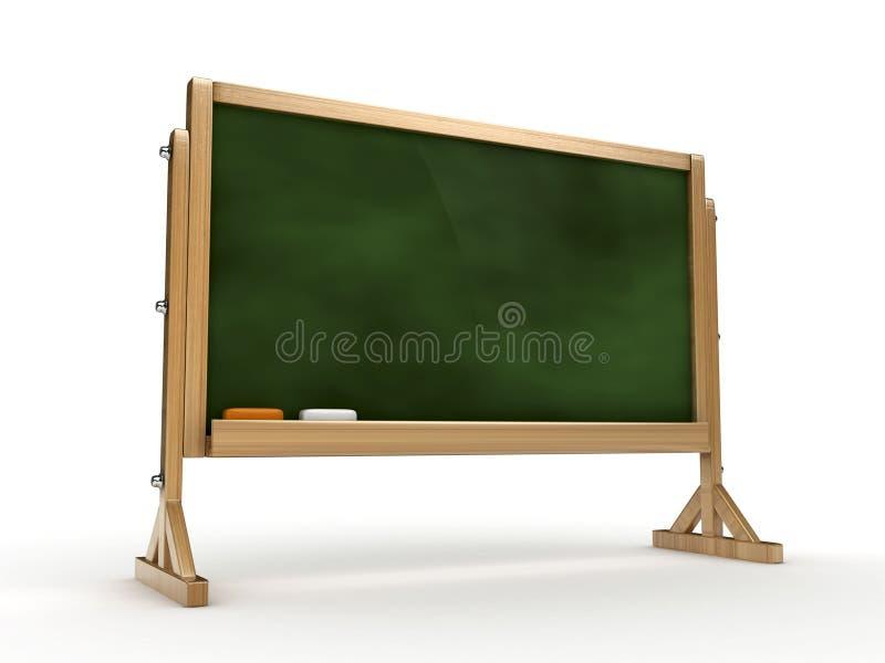 blackboard 3d royaltyfri illustrationer