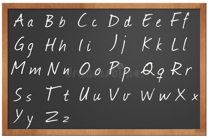 Blackboard alphabet illustration stock illustration